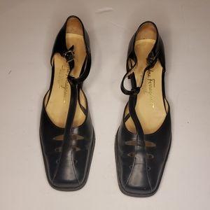 Salvatore Ferragamo Black Sandals Size 6.5 Narrow